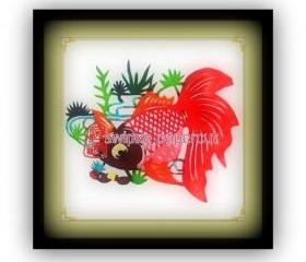 Deal - 1/2 Off - handmade papercut - 10 goldfish in a set (Red OR multi colored)