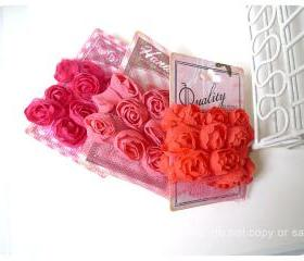 Bloomer little rose trim using tulle, ribbon 