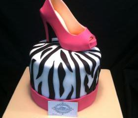 Fondant Shoe Pink Suede Stiletto Cake Topper ,100% Edible, Inspired Shoe Designer Manolo Blahnik, Perfect for any Shoe lover