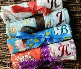 Travel Jewelry Roll with Personalized Monogram