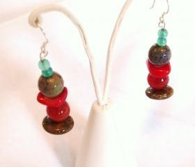 Multi Colour Earrings Gemstone Jewelry