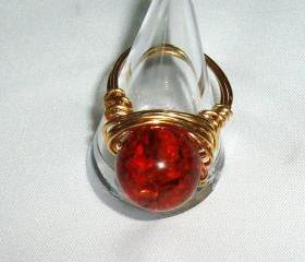 Copal Amber Ring Handmade Jewelry