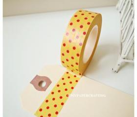 Washi Tape Orange with red polka dot