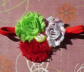 Cute Santa Shabby Chic Headband