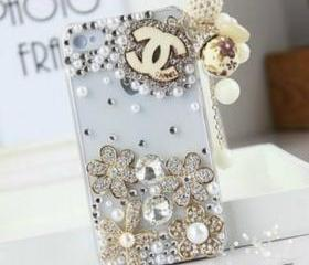 New Bling Crystal Wooden Logo Tassel iPhone 4/4S Case