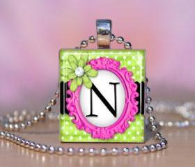 Oh So Girly Scrabble Tile Pendant