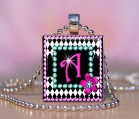 Diva Bling Personalized Scrabble Tile Pendant