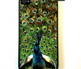 Iphone 4 Case New Hard Fitted Case For iphone 4 & iphone 4S, Indian Peacock Art iphone 4 Case