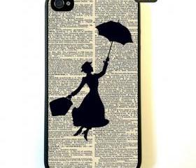 Iphone 4s Case Mary Poppins Vintage iphone 4s Case
