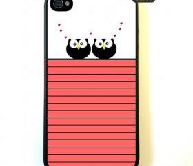 Owl Love - iPhone 4 Case, iPhone 4s Case, iPhone 4 Hard Case, iPhone Case