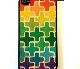 Retro Blocks - iPhone 4 Case, iPhone 4s Case, iPhone 4 Hard Case, iPhone Case