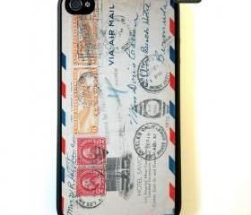 iPhone 4 Case, Vintage Envelope iPhone Case Hard Fitted Case For iphone 4 & iphone 4S.