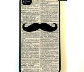 Mustache iPhone 4 Case, New Hard Fitted Case For iphone 4 & iphone 4S, Dictionary Art iphone 4 Case