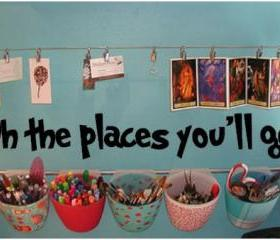 Oh The places you'll go. Vinyl Decal