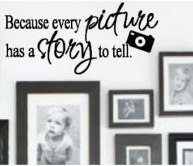 Every Picture has a Story Vinyl Decal