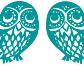 Vintage Owls Vinyl Decals