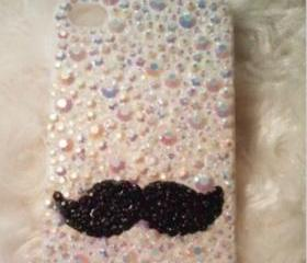 New Bling Crystal Sparkle Big Beard Rhinestones iPhone 4/4S Case Cover