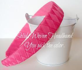 Custom Woven Headband: You pick the color 