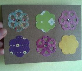 Recycled Floral Die Cut Card