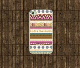 Iphone 4 case - Pink Aztec iphone 4s case, iphone case
