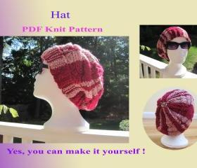 Knit Pattern - Hat (21VC2012)