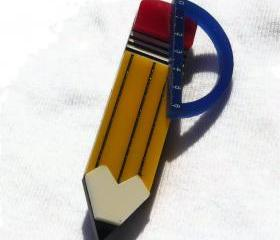 Back to School Jewelry,Architect Brooch,Lasercut Jewelry,Geek Jewelry