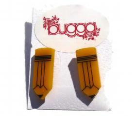 Back to School Jewelry,Pencil Stud Earrings,Lasercut Jewelry