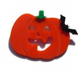 Halloween Jewelry,Pumpkin Brooch,Lasercut Acrylic