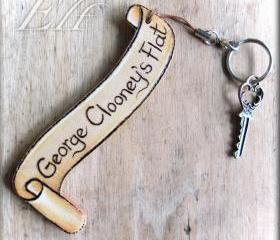 Handcrafted Personalised Wooden Key Ring
