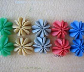 10PCS - Mini Coral Cabochons - Resin - Holiday Mix 2012 - 10mm - Findings by ZARDENIA