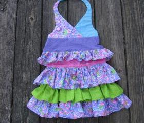 Layered Ruffled Skirt and Halter top for girls size 2 to 3
