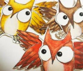 Articulated Paper Owls Woodland Creatures Paper Dolls