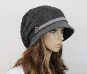 Wool handmade hat knitted hat