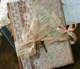 Wedding Guest Book - Our Journey of love - vintage style - Custom made - has 24 pages