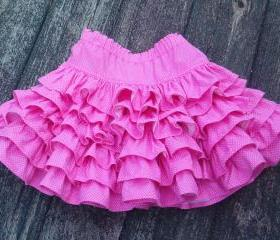 Little girls layered ruffled skirt Size 2 to 3