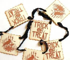 Halloween Garland - Vintage Inspired Dark As Night Black - 1 yard