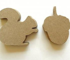 Squirrels and Acorns - Set of 12