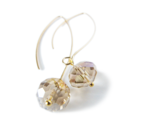 Crystal Drop Earrings - Gold - Daydream