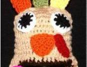 Super Cute Crocheted Turkey Hat