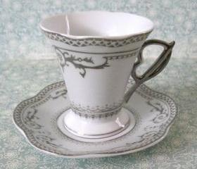 Cup & Saucer Vintage D'Lusso Espresso Favor Set
