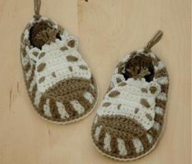Zebra Baby Booties Crochet PATTERN, SYMBOL DIAGRAM (pdf)