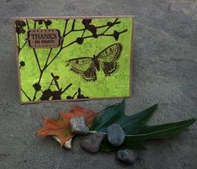 Thank You Butterfly Greeting Card with Envelope