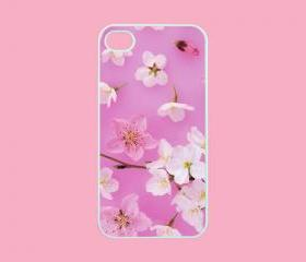 Flower - iphone 4 case,iphone 4s case,personalized iphone case in black or white,plastic or silicone
