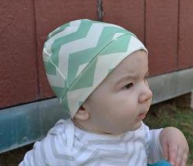 Organic Chevron Knit Baby Hat