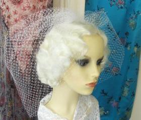 bridal birdcage veil.