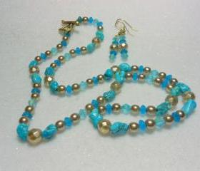 Genuine Turquoise Necklace Set