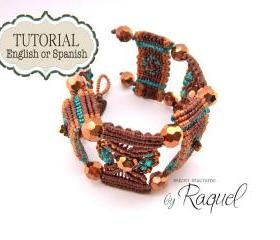 Micro Macrame Tutorial en ESPAOL 'Pulsera Brown Steps'
