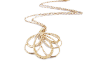 Gold Petal Necklace - Gold - Zahara