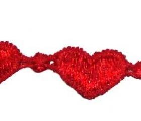 Lucky Red Heart Friendship Bracelet with black clasp