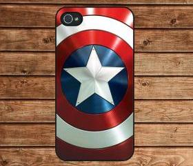 iphone 4 case,iphone 4s case--Captain America Shield ,in plastic or silicone case